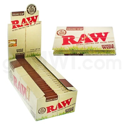 Raw Organic Hemp Single Wide 25/bx