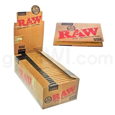 Raw Classic Single Wide 25/bx