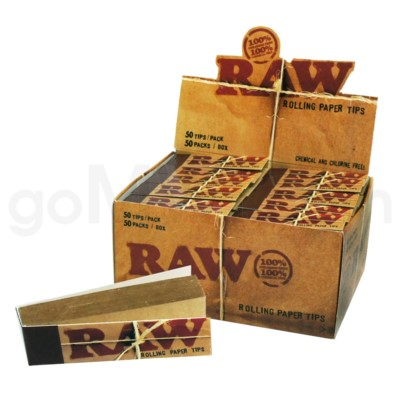 Raw Natural Unrefined Tips 50CT/BX
