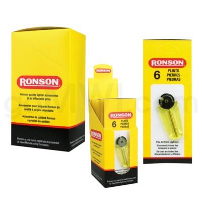Ronson Flints 6/pack 12CT/BX