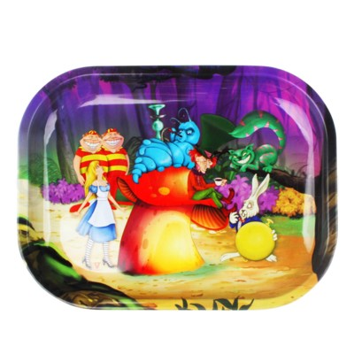 V Syndicate 5x7in Mini Rolling Tray- Alice Mushroom