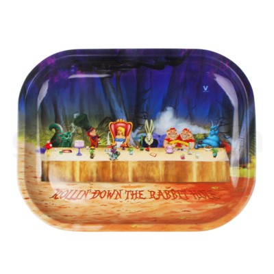 V Syndicate 5x7in Mini Rolling Tray- Alice Tea Party