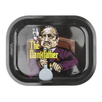 Smoke Arsenal 5x7in Mini Rolling Tray-Dank Father