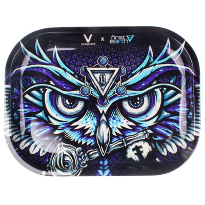 V Syndicate 5x7in Mini Rolling Tray- First Earth Owl