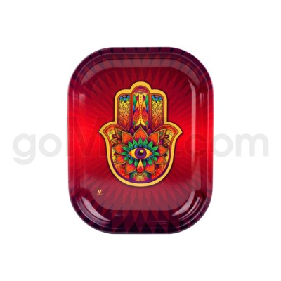 V Syndicate 5x7in Mini Rolling Tray- Hamsa Red