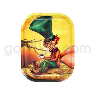 V Syndicate 5x7in Mini Rolling Tray- Mad Hatter