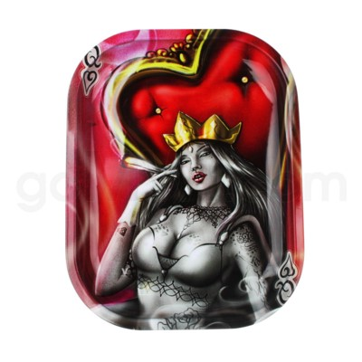 V Syndicate 5x7in Mini Rolling Tray- Royal Highness Queen