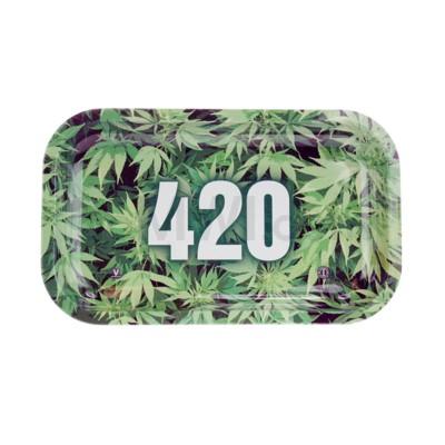 V Syndicate 11x7in Medium Rolling Tray- 420 Green