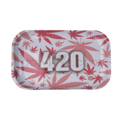 V Syndicate 11x7in Medium Rolling Tray- 420 Pink