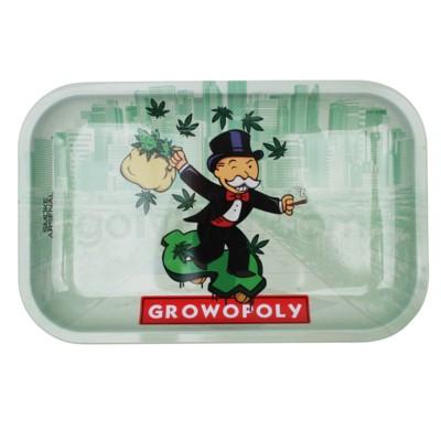 Smoke Arsenal 11x7in Medium Rolling Tray- Growopoly