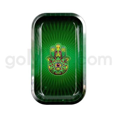 V Syndicate 11x7in Medium Rolling Tray- Hamsa Green