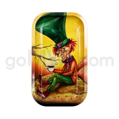 V Syndicate 11x7in Medium Rolling Tray- Mad Hatter