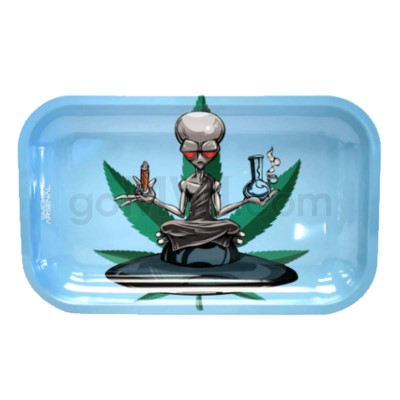 Smoke Arsenal 11x7in Medium Rolling Tray- Outer Space