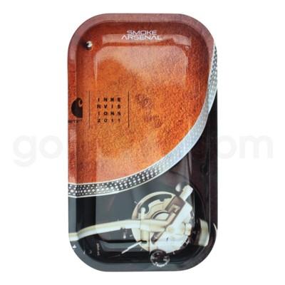 Smoke Arsenal 11x7in Medium Rolling Tray- Turntable