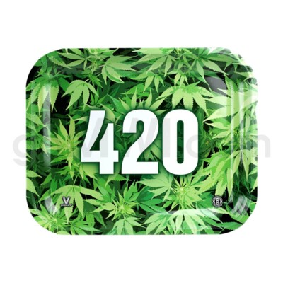 V Syndicate 13x11 in Large Rolling Tray- 420 Green