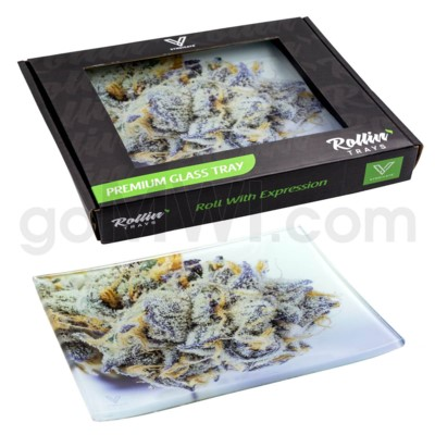 V Syndicate 5x7in Small Glass Rolling Tray- Girl Scout Cookie