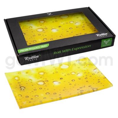 V Syndicate 10x7in Medium Glass Rolling Tray- Dab Slab