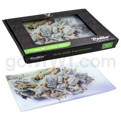 V Syndicate 10x7in Med Glass Rolling Tray- Girl Scout Cookies