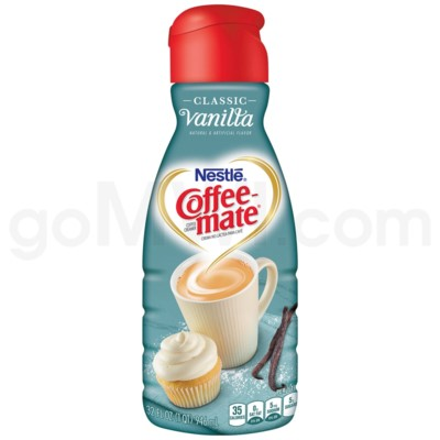 Safe Can Coffee Mate Vanilla Liquid Creamer
