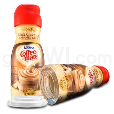 Safe Can Coffee Mate White Choc Caramel Latte Liq Creamer