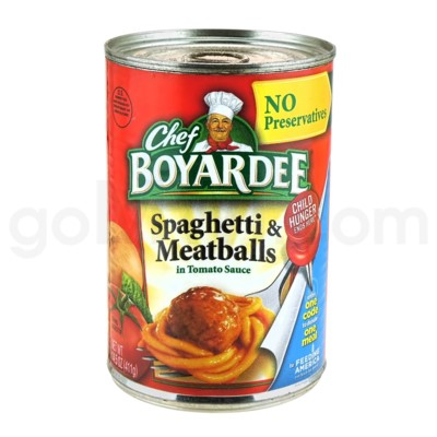 Safe Can Chef Boyardee - Spaghetti & Meatballs