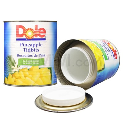 Safe Can Dole Pineapple Tidbits XL