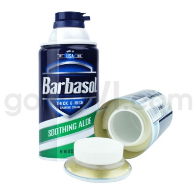 Safe Can Barbasol shaving cream  Soothing Aloe