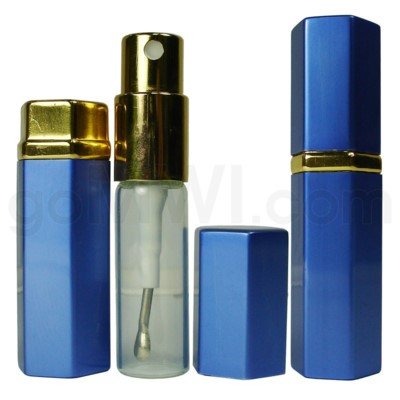 Perfume atomizer with vial & scoop