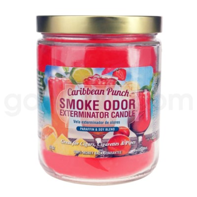 Smoke Odor Exterminator 13oz Candle Carribean Punch