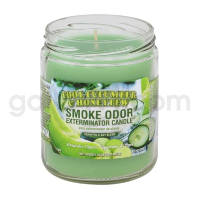 Smoke Odor Exterminator 13oz Candle Cool Cucumber &Honeydew