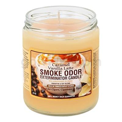 Smoke Odor Exterminator 13oz Candle Caramel Vanilla Latte