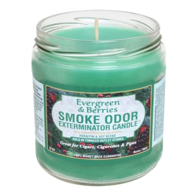 Smoke Odor Exterminator 13oz Candle Evergreen & Berries