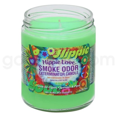 Smoke Odor Exterminator 13oz Candle Hippie Love