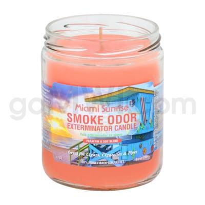 Smoke Odor Exterminator 13oz Candle Miami Sunrise