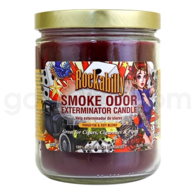 DISC Smoke Odor Exterminator 13oz Candle Rockabilly