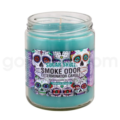 Smoke Odor Exterminator 13oz Candle Sugar Skull