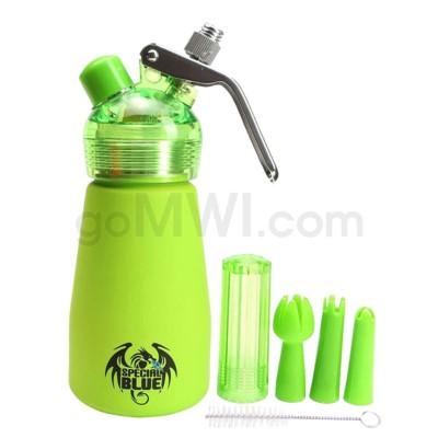 Special Blue Aluminum Suede Dispenser 0.25L-1/2PT Green