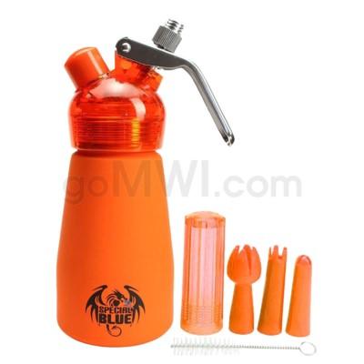 Special Blue Aluminum Suede Dispenser 0.25L-1/2PT Orange
