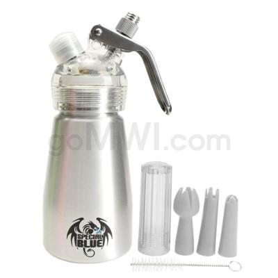 Special Blue Aluminum Suede Dispenser 0.25L-1/2PT Silver