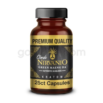 Nirvanio Kratom 500mg Maeng Da 25ct Bottle 100/cs