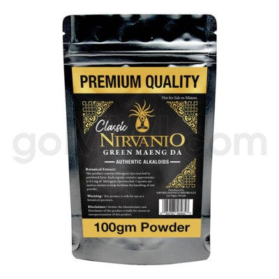 Nirvanio Kratom Maeng Da Powder 100g 100/cs