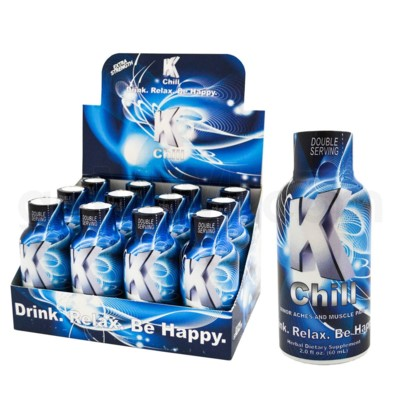 K-Chill Kratom Shots 2oz - Blue Natural Maeng Da