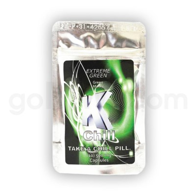 K-Chill Kratom Pills 10ct - Extreme Green Malay