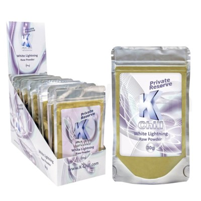 K-Chill Kratom Powder 30g - White Lightning Maeng Da