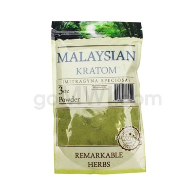 Remarkable Herbs Kratom - Malay Powder 3oz