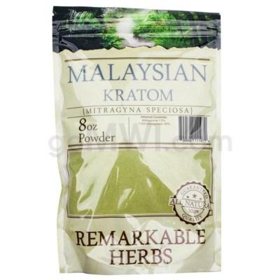 Remarkable Herbs Kratom - Malay Powder 8oz