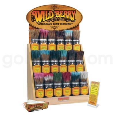 Wildberry Incense Oak Display 18ct #1