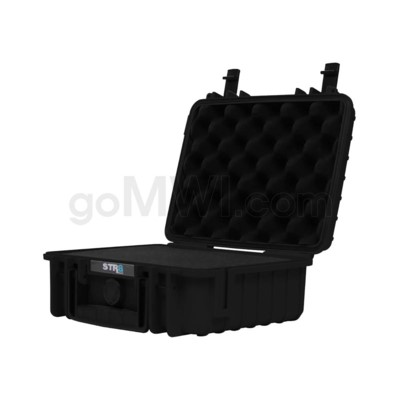 Str8 Case 10' with 2 Layer Pre-cut Foam - Onyx Black
