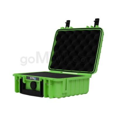Str8 Case 10' with 2 Layer Pre-cut Foam - Nitro Green
