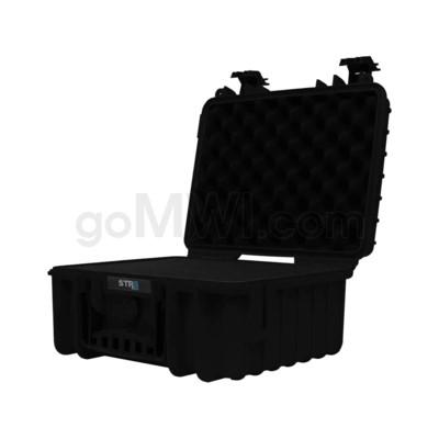 Str8 Case 13' with 3 Layer Pre-cut Foam - Onyx Black